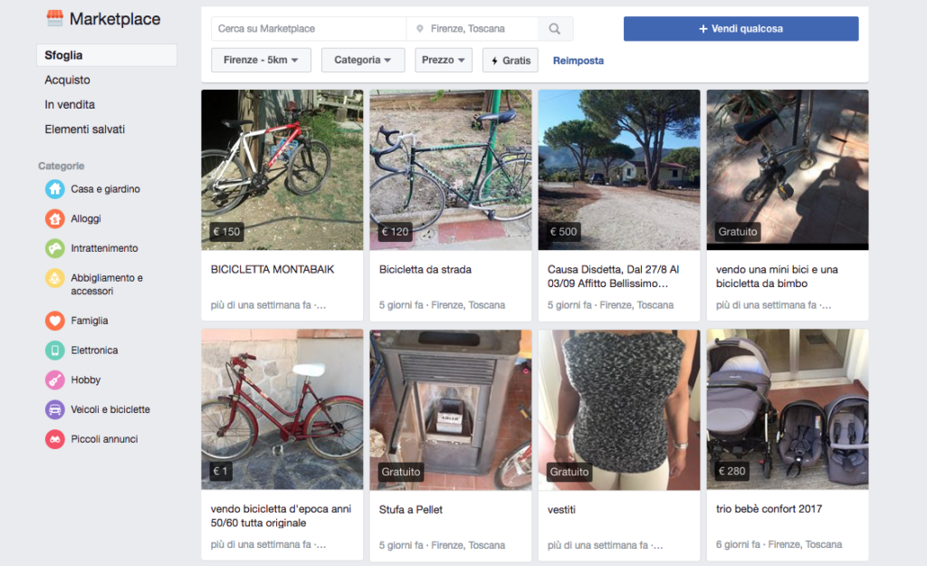 marketplace facebook come funziona